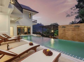 Luxury 8 bedroom villa in Patong with sea views, private swimming pool, chef cook and maid