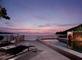 A three bedroom luxury villa in Kalim, Patong, beachfront location, direct sea views, with private pool and terrace
